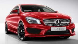 Mercedes-Benz CLA frente rojo